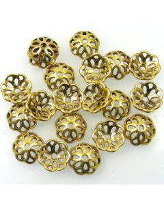 Tibetan 12mm Bead Cap (Pack 20) Gold Finish