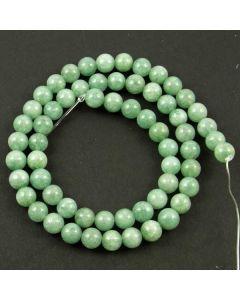 Malay Jade (Dyed mid Cyan Quartzite) 6mm Round Beads