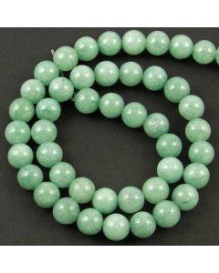 Malay Jade (Dyed mid Cyan Quartzite) 8mm Round Beads