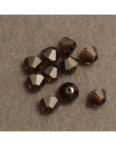 Swarovski® 4mm Mocca Bicone Xilion Cut Beads (Pack of 10)