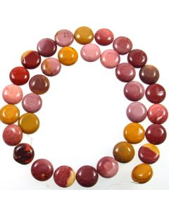 Mookaite 12mm Coin Beads
