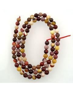 Mookaite 4-4.5mm Round Beads
