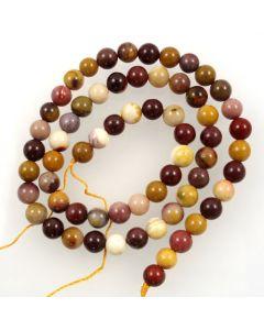 Mookaite 6-6.5mm Round Beads