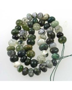 Moss Agate 12x8mm (Approx) Nugget Beads