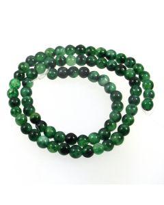 Malay Jade (Dyed Moss) 6mm Round Beads