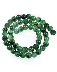 Malay Jade (Dyed Moss) 8mm Round Beads