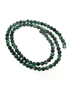 Malay Jade (Dyed Moss) 4mm Round Beads