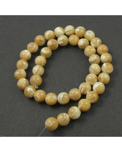 Mother of Pearl (Natural) 10mm Round Beads