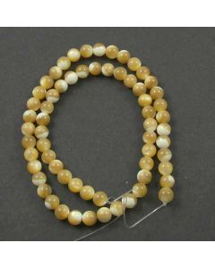 Mother of Pearl (Natural) 6mm Round Beads