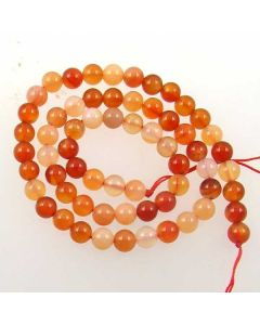 Carnelian (Natural) 6mm Round Beads