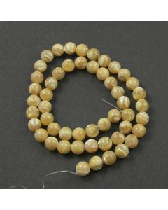 Mother of Pearl (Natural) 8mm Round Beads