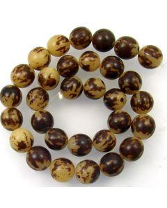 Buri 12mm (approx) Round Beads