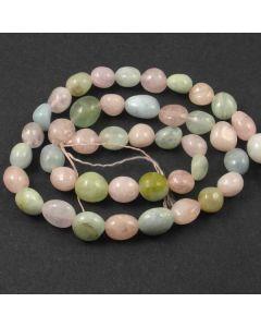 Beryl (multi stone) 8mm approx. Nugget Beads