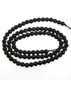 Black Obsidian 4mm Round Beads