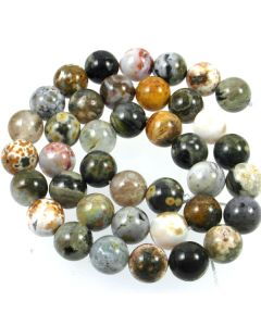 Ocean Agate 10mm Round Beads