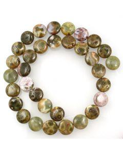 Ocean Agate 12mm Coin Beads