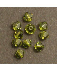 Swarovski® 4mm Olivine Bicone Xilion Cut Beads (Pack of 10)