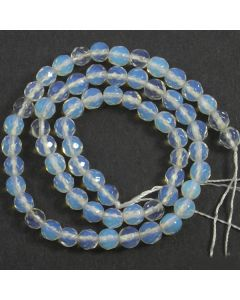 Opalite Faceted 6mm Round Beads