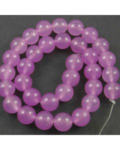Malay Jade (Dyed Orchid Quartzite) 12mm Round Beads