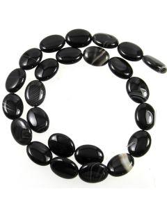 Black Sardonyx 12x16mm Oval Beads