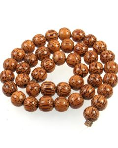 Palmwood 10mm (approx) Round Beads