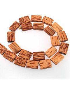 Palmwood Rectangle Beads
