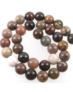 Brazil Petrified Wood 12mm Beads