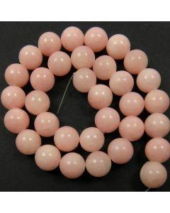 Mashan Jade (Dyed Light Pink) 12mm Round Beads