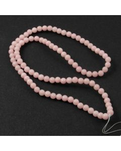Mashan Jade (Dyed Light Pink) 4mm Round Beads