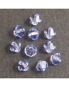 Swarovski® 4mm Provence Lavendar Bicone Xilion Cut Beads (Pack of 10)