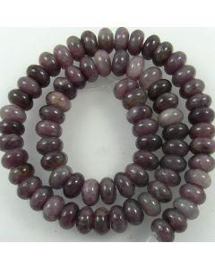 Plum Jade 6x10mm Rondelle Beads