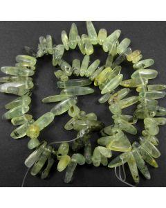 Prehnite Long 14-22mm Chip Beads