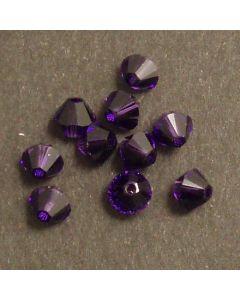 Swarovski® 4mm Purple Velvet  Bicone Xilion Cut Beads (Pack of 10)