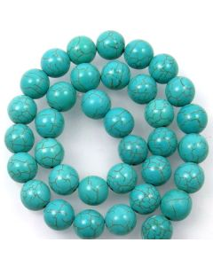 Turquoise (Reconstituted) 12mm Round Beads