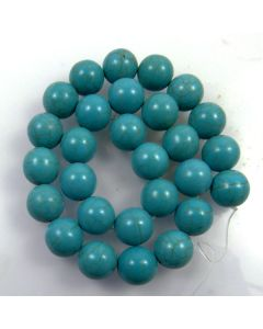Turquoise (Reconstituted) 14mm Round Beads