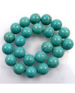 Turquoise (Reconstituted) 16mm Round Beads