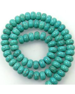 Turquoise (Reconstituted) 10mm Rondelle Beads
