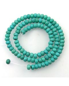 Turquoise (Reconstituted) 6mm Rondelle Beads