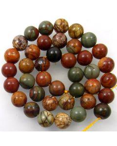 Red Creek Jasper 10mm Round Beads