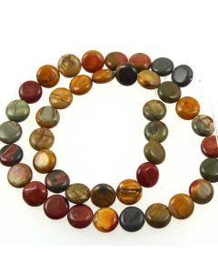 Red Creek Jasper 10mm coin beads