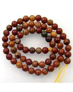 Red Creek Jasper 6mm Round Beads