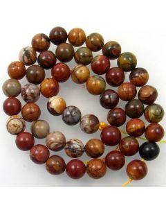 Red Creek Jasper 8mm Round Beads