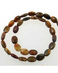 Red Creek Jasper 10x14mm Oval Beads