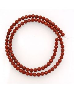 Red Jasper 4mm Round Beads
