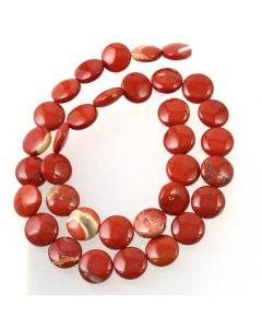 Red Jasper Coin Beads