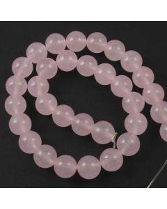 Malay Jade (Dyed Rose Quartz Quartzite) 12mm Round Beads