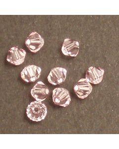 Swarovski® 4mm Rosaline Bicone Xilion Cut Beads (Pack of 10)