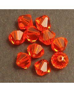 Swarvoski Bicone Xillion red topaz