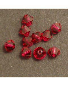 Swarvoski Bicone Xilion Ruby