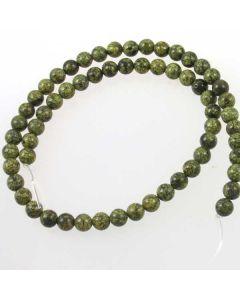 Russian Serpentine 6mm Round Beads - light